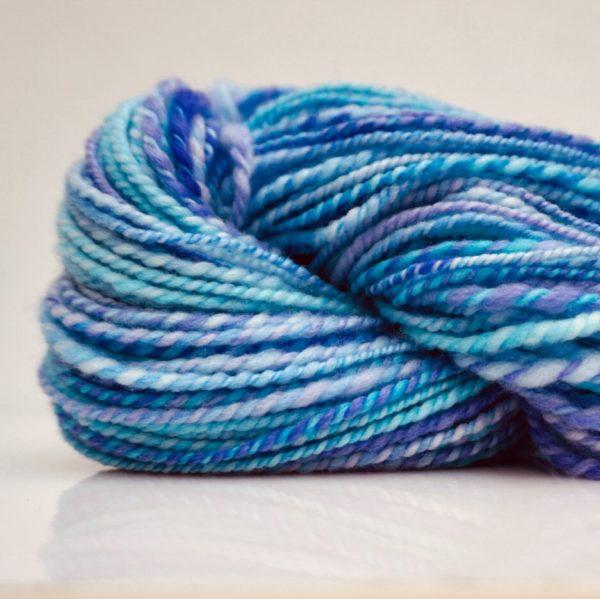 Hand Spun Yarn Blue DK