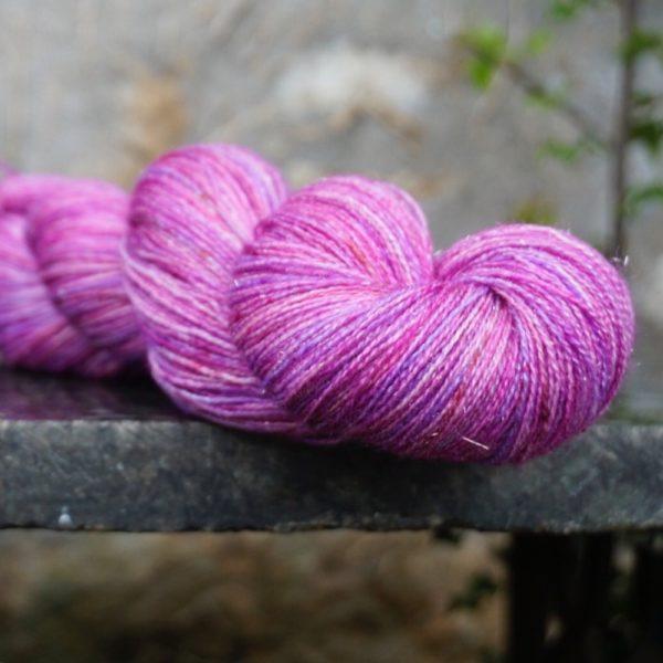 Sparkly Lace Weight BFL Wool Superwash / Silk / Stellina