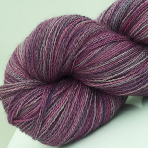 purple grey lace weight hand dyed yarn