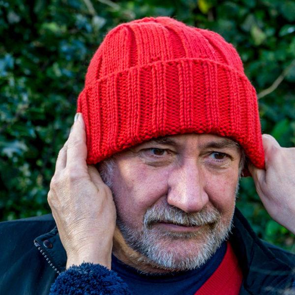 Merino Wool Watchcap in Red