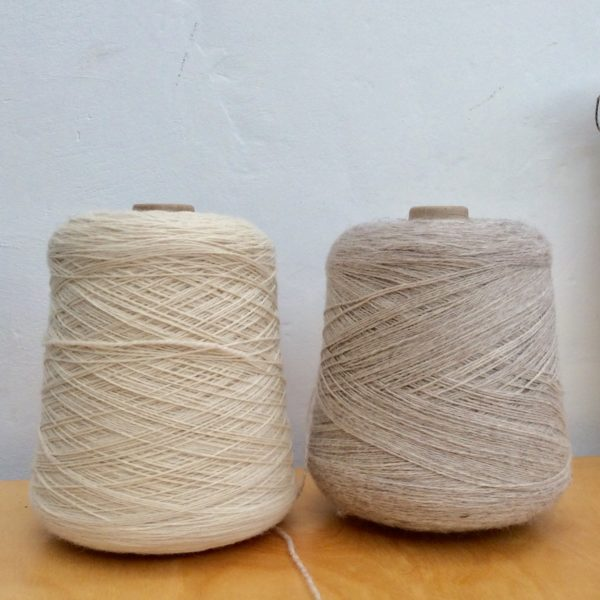 Cream and oatmeal merino wool.