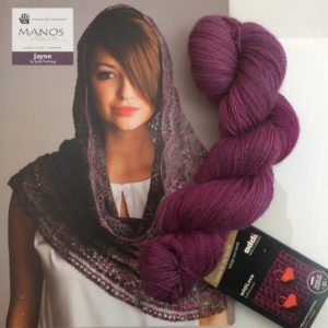 Vivid Purple Lace Cowl Knitting Kit