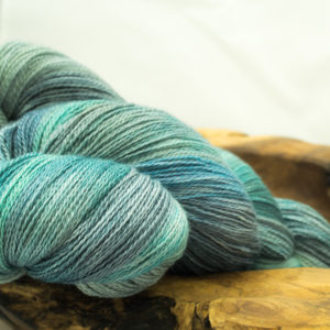 Lace Weight 50 / 50 Silk and Merino 'Atlantic Surge'