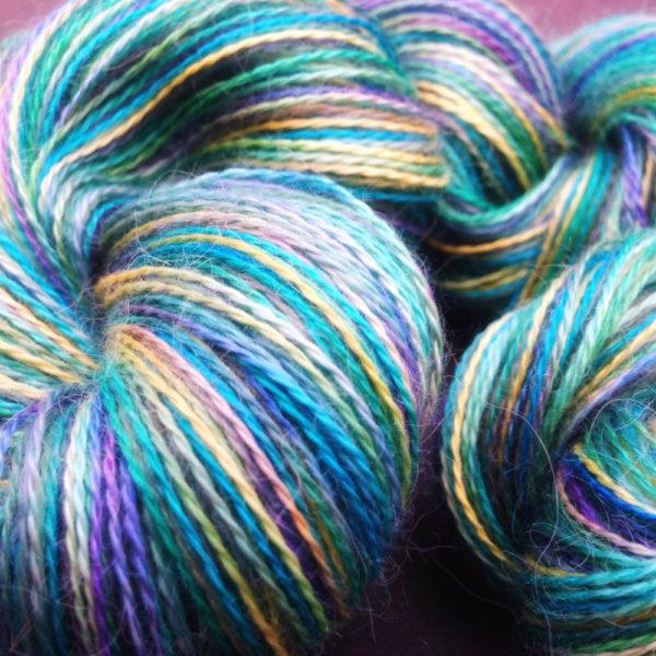 Alpaca and silk 4 ply yarn