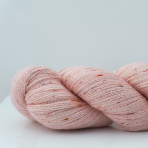 Speckled lace weight knitting yarn